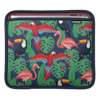 Tropical Birds In Bright Colors iPad Sleeves