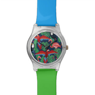 Tropical Birds In Bright Colors Watch