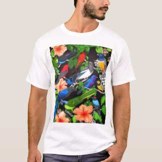 Tropical Birds of Mexico T Shirt