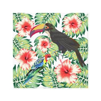 Tropical Birds of Paradise Design Series 1 Canvas Print