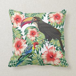Tropical Birds of Paradise Design Series 1 Throw Pillow