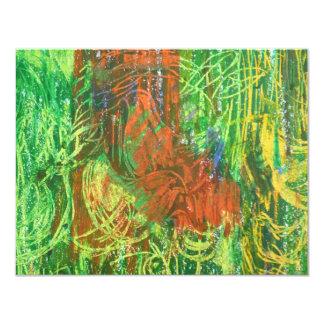 Tropical Birds Picture. 11 Cm X 14 Cm Invitation Card