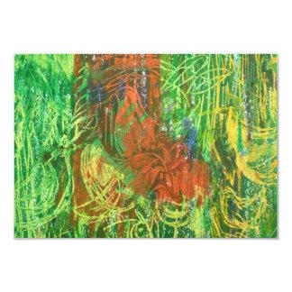 Tropical Birds Picture. 9 Cm X 13 Cm Invitation Card