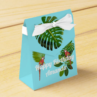 Tropical Birthday Favour Box