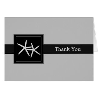 Tropical Black Groomsman Best Man Thank You Card