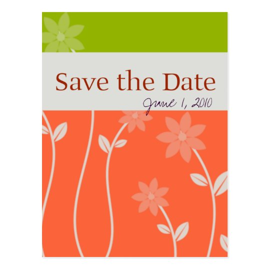 Tropical Bloom Save the Date Postcard