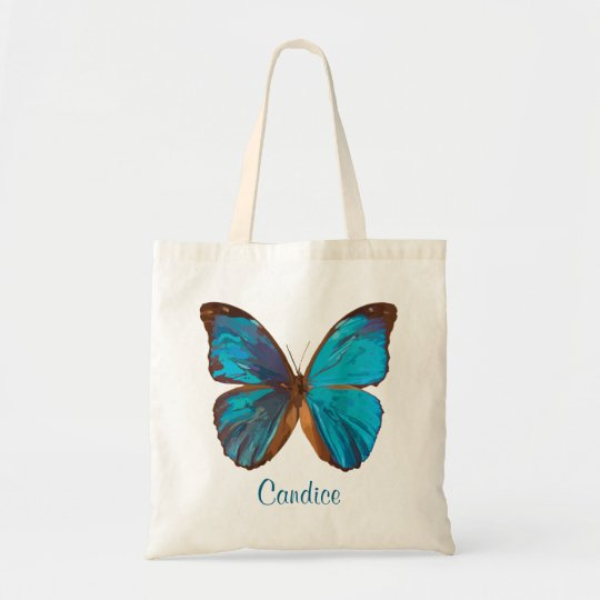 Tropical Blue and Turquoise Gem Coloured Butterfly