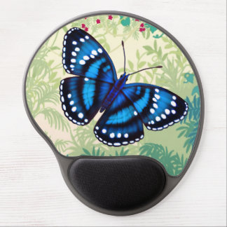 Tropical Blue Butterfly Gel Mousepad