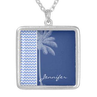 Tropical Blue Chevron Jewelry