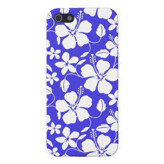 Tropical Blue Floral iPhone 5/5S Covers