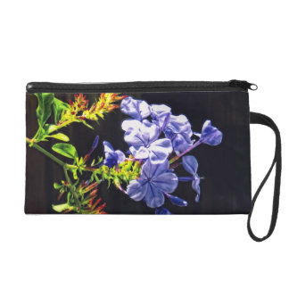 Tropical Blue Flower Wristlet