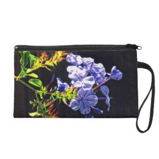 Tropical Blue Flower Wristlet