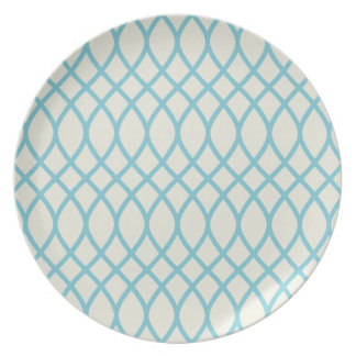 Tropical Blue Geometric Plate