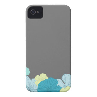 Tropical Blue Hawaiian Lei on Charcoal Case-Mate iPhone 4 Case