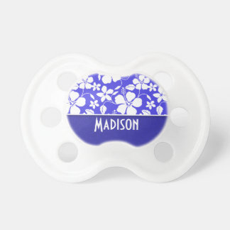Tropical Blue Hibiscus Cute Baby Pacifier