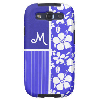 Tropical Blue Hibiscus Flower; Floral Samsung Galaxy SIII Case