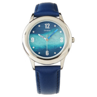 Tropical Blue Ocean White Sand Maldives Custom Watch