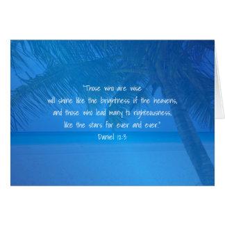 Tropical Blue Pastor Appreciation Leader Scripture Card