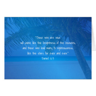 Tropical Blue Pastor Appreciation Leader Scripture Greeting Card