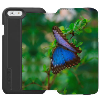 Tropical Blue Purple Butterfly Incipio Watson™ iPhone 6 Wallet Case