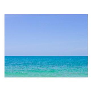 Tropical blue sea and sky. postcard