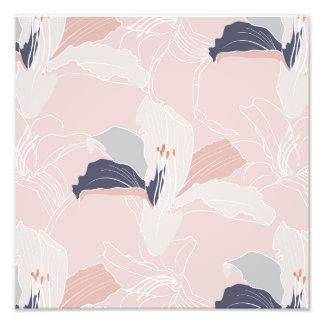 Tropical Blush Floral Photo Print