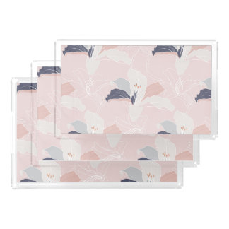 Tropical Blush Floral Vanity Tray