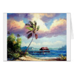 Tropical Boat house Greeting Card