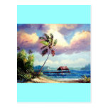 Tropical Boat house Post Card