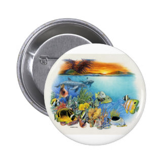 Tropical Breeze A Tropical Fish Collage 6 Cm Round Badge
