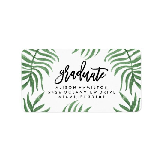 Tropical Breeze Graduation Address Labels