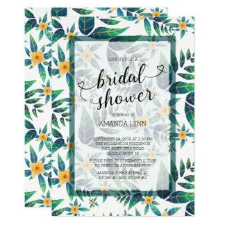 Tropical Bridal Shower Hibiscus Floral 13 Cm X 18 Cm Invitation Card