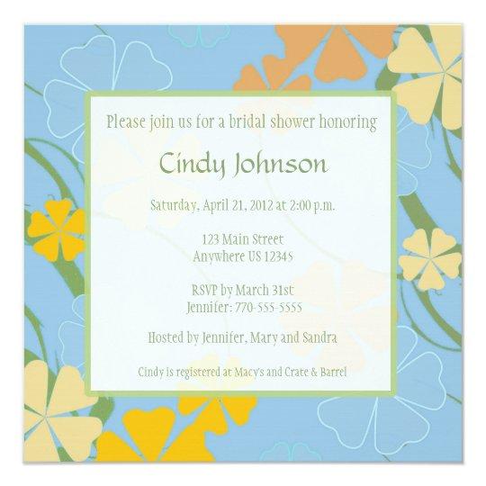 Tropical Bridal Shower Invitation - Custom Photo