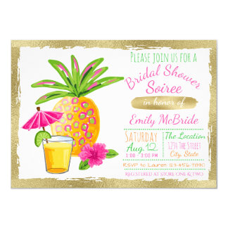 Tropical Bridal Shower Soiree 11 Cm X 16 Cm Invitation Card