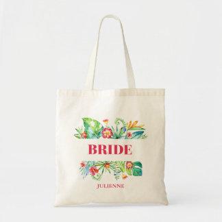 Tropical | Bride Destination Wedding Tote Bag