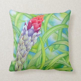 Tropical Bromeliad Cushion