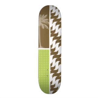 Tropical Brown Waves Skate Board Deck