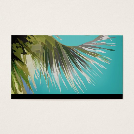 tropical business card template palm tree art