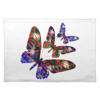 Tropical butterflies design place mat