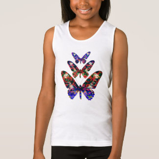 Tropical butterflies design T-shirt