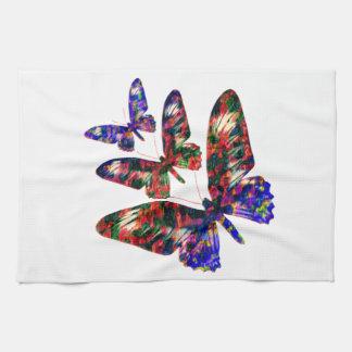 Tropical butterflies design tea towel