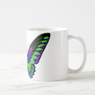 Tropical butterfly basic white mug