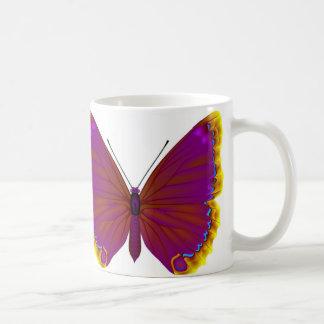 Tropical butterfly basic white mug