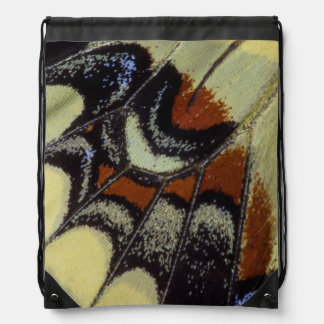 Tropical butterfly close-up drawstring bag