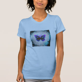 Tropical  Butterfly Ladies Tee Shirt