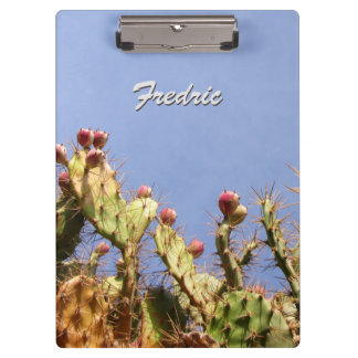 Tropical Cactus against Blue Skies any Text Clipboards