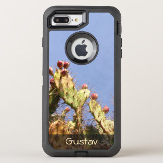 Tropical Cactus Biological Blue Skies any Text OtterBox Defender iPhone 7 Plus Case
