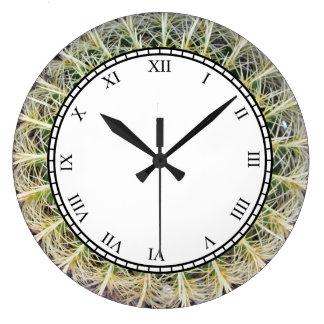 Tropical Cactus Plant Roman Digits Wall Clocks