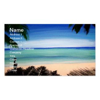 Tropical Caribbean Beach island view Business Card