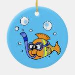 tropical cartoon fish christmas ornament